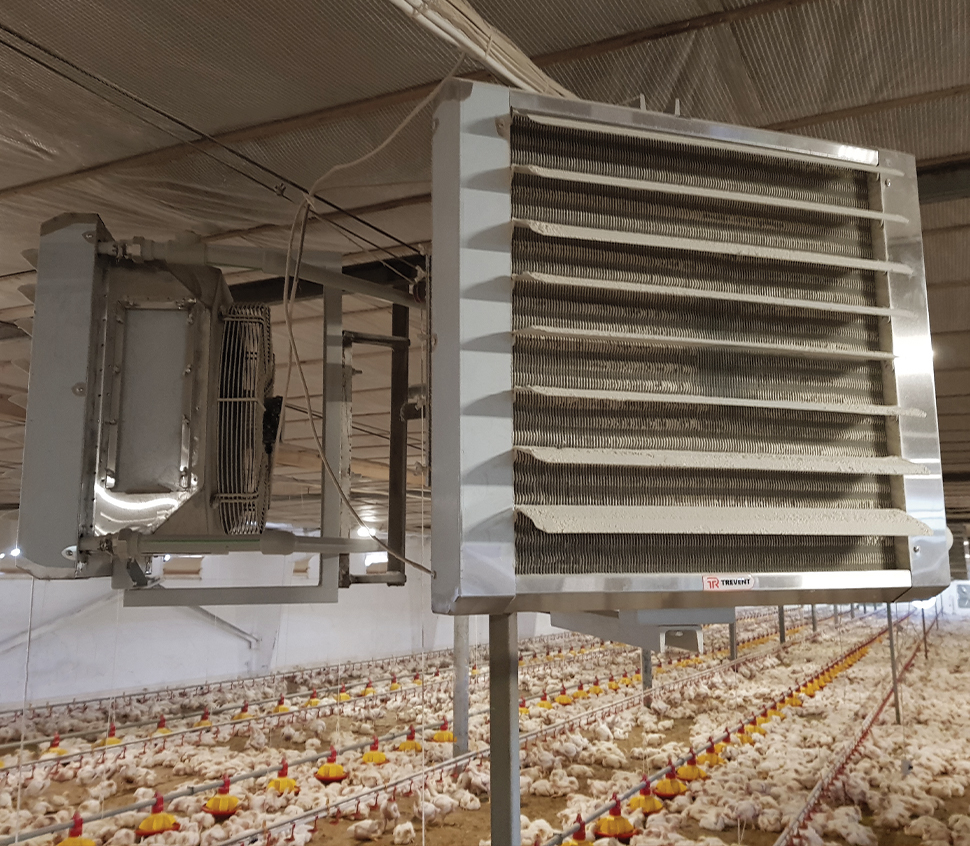 Modern heating of a poultry farm