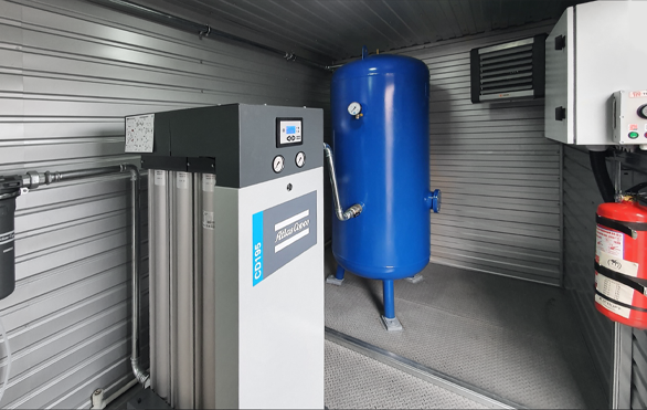 Отопление модульной компрессорной станции