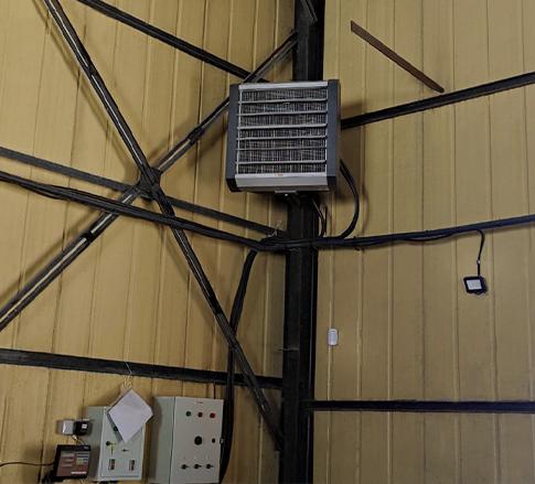 Опалення тепловентилятором виробничого цеху