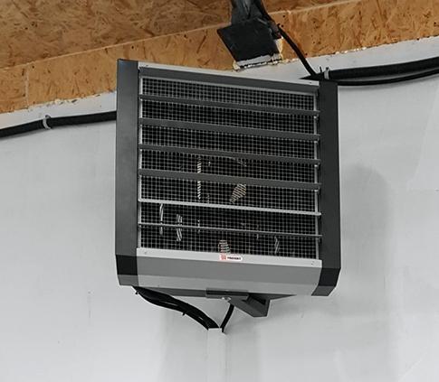 Отопление тепловентилятором производственного цеха